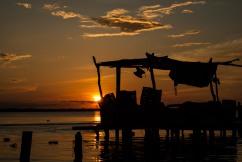 Atardecer en el Sur del Lago de Maracaibo.
