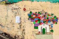 Detalle de pieza artìstica que refleja a El Calvario, ubicado en la parroquia El Hatillo del estado Miranda, Venezuela. Photowalk organizado por VAEArts y la alcaldía de El Hatillo, en el marco de la actividad cultural #ElCalvarioPuertasAbiertas y el programa cultural Vive El Hatillo.