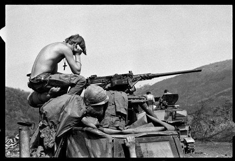 KHE SANH -- 1971: Easter Sunday near Khe Sanh, 1971 (photo by David Hume Kennerly)